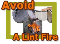 Contact Anytime Service for dryer vent cleaning. Avoid a fire!