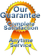 Anytime Service guarantees your complete satisfaction